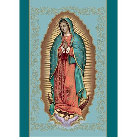 Tarjeta de Misa: Nuestra señora de Guadalupe (Azul)