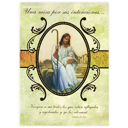 Tarjeta de Misa: El Buen Pastor