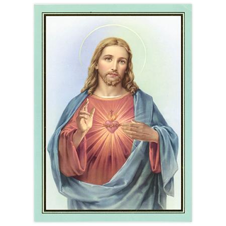 Tarjeta de Misa: El sagrado corazón de Jesús